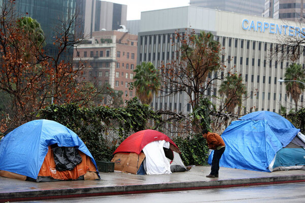 Los angeles to serve as crucible for reform in ending for Homeless shelter in los angeles