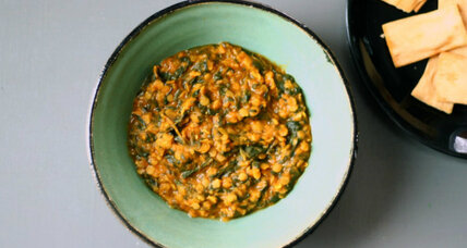 Dal-palak: lentils and spinach