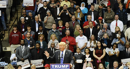 Silent protest: Muslim woman ejected from Donald Trump rally