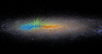 Huge new map showing the evolution of the Milky Way