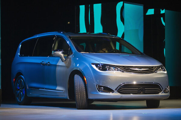 The 2017 Chrysler Pacifica Hybrid Minivan Is Unveiled At North American International Auto Show Monday Jan 11 2016 In Detroit