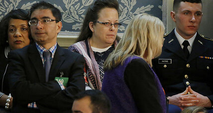 Why was Kim Davis at the State of the Union address?