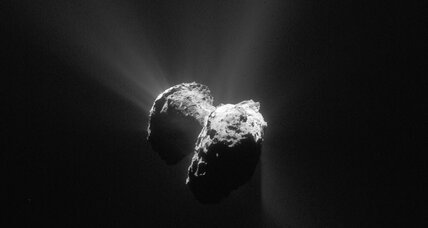 Latest from Rosetta: Icy surface comet could tell of comet's origin