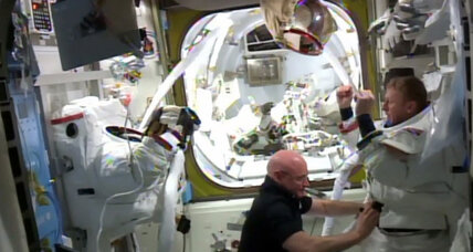 Astronauts safely back onboard space station after spacewalk mishap