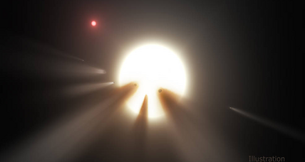 Astronomers befuddled by mysterious flickering star
