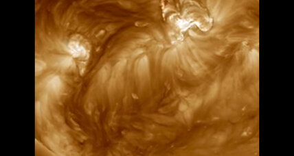 NASA films cascading magnetic arches on our sun. What is that?