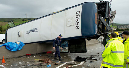 Two people killed in California Greyhound crash. How safe are buses?