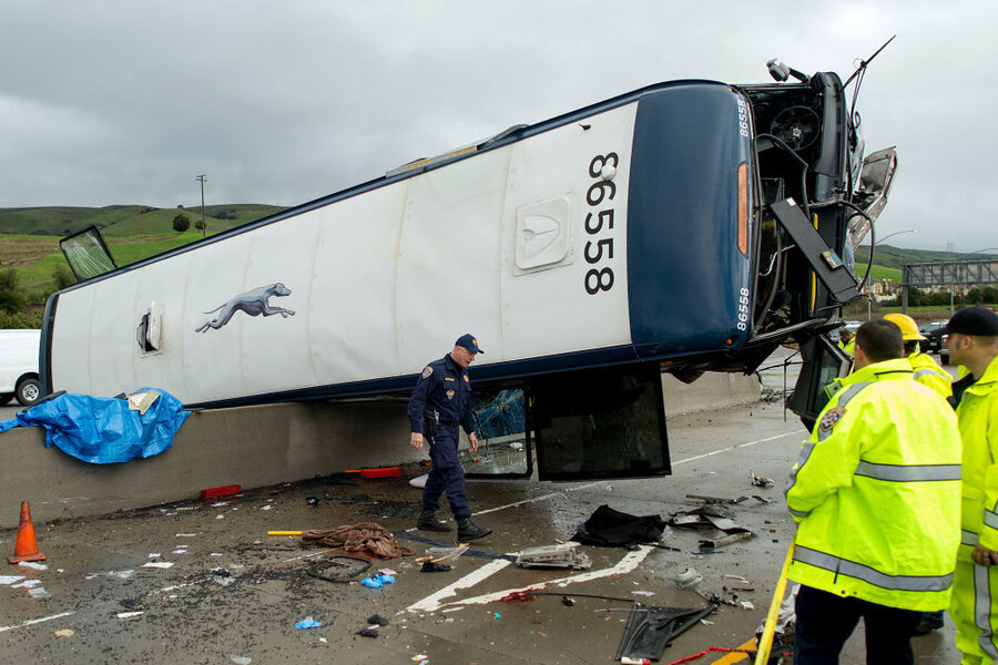 Two people killed in California Greyhound crash  How safe