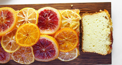 Ricotta cake with candied citrus