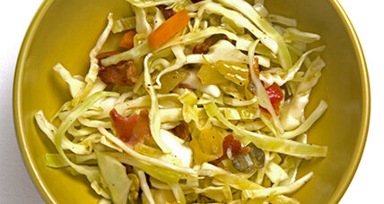 Giardiniera slaw with bacon