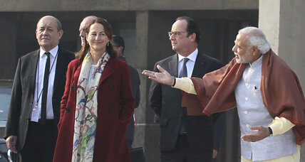 French president's India visit seeks dialogue on defense, energy