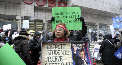 Are Detroit's sick-outs legal? School district takes teachers to court.
