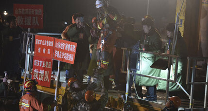 Chinese miners rescued after 36 days trapped underground