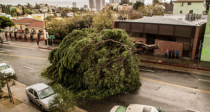 Winter storm lashes southern California with 65 mph winds