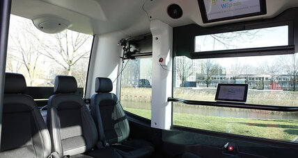 Driverless bus hits the road in the Netherlands