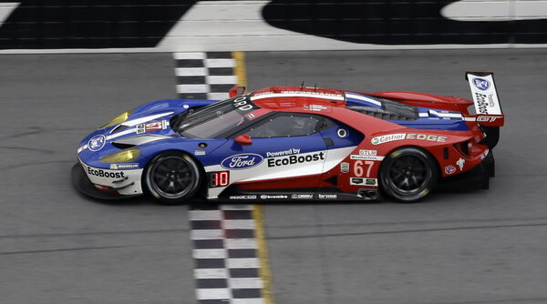 The Ganassi Racing Ford GT runs through the front stretch during the ...