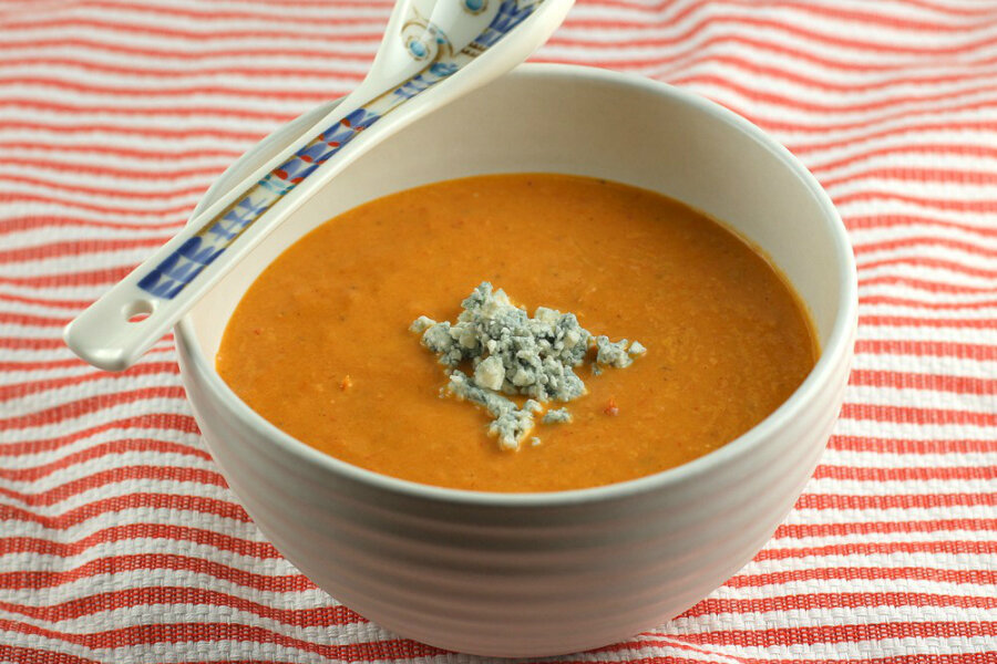 recipe: roasted tomato and blue cheese soup [3]