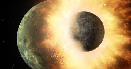 When worlds collide: Earth is really two planets, study finds