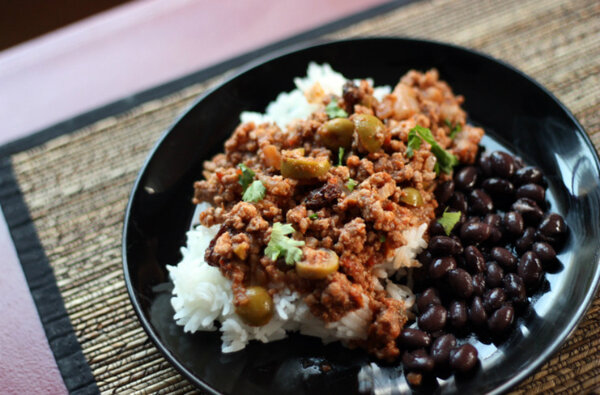 ... in Cuban picadillo gives this easy-to-make meal complex flavors