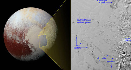 Cosmic icebergs bob atop frozen nitrogen sea in Pluto's heart
