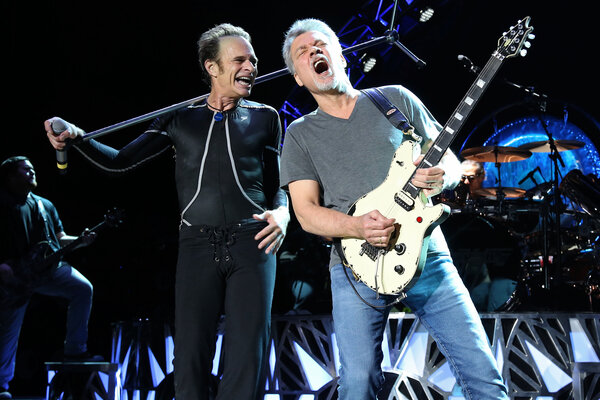 Left And Eddie Van Halen Of Perform At The Nikon Jones Beach Theater On Thursday Aug 13 2015 In Wantagh NY About 300 Guitars