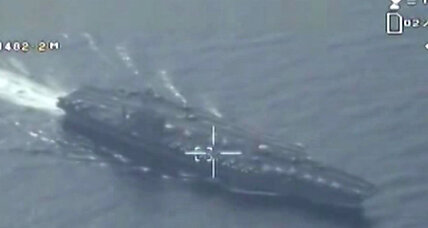 Rising tensions? Iranian drone spies on US warship