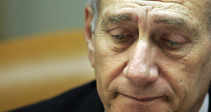 Sadness as former Israeli prime minister begins prison term