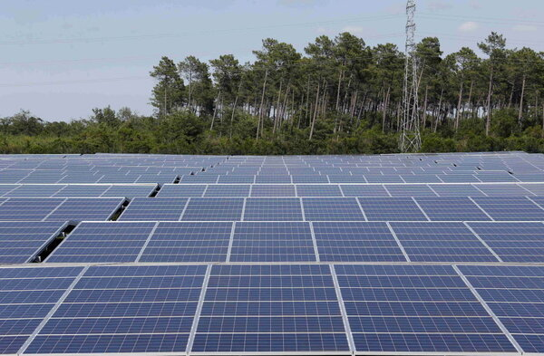 Cestas France  city images : ... energy at the photovoltaic park in Cestas, France June 19, 2015