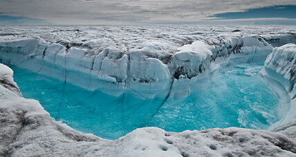 Are glacial ice streams contributing to the rise of ocean levels?