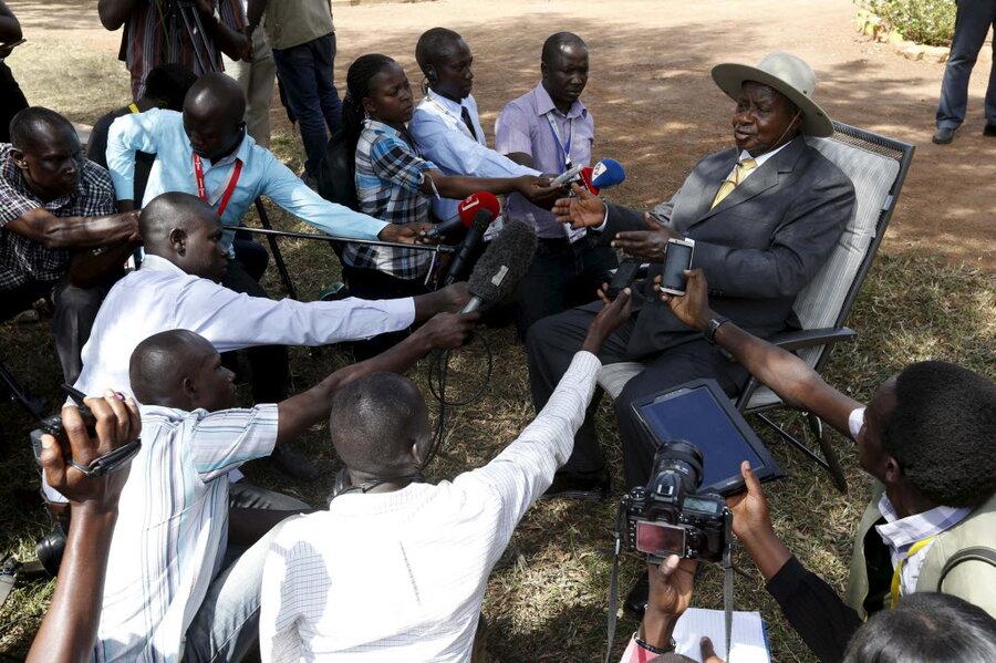 Ugandan lawmakers start brawl over protests over Museveni