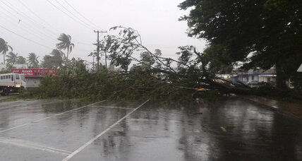Cyclone Winston slams Fiji islanders with record winds