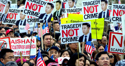 Chinese lives matter? Huge protests back convicted cop