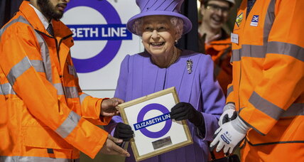 New rail line in London, the 'Elizabeth line,' named for the monarch
