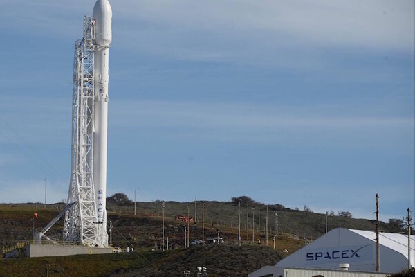 a spacex falcon 9 rocket with the jason 3 spacecraft onboard is shown at vandenberg air force base space launch complex 4 east jan 16 2016