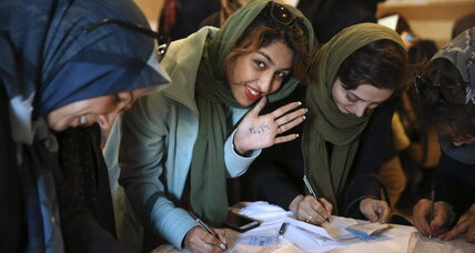 Peace message in Iran's election