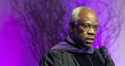 After a decade of silence, did Justice Clarence Thomas find his voice?