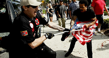 How did police deal with KKK rally? Questions after California brawl.