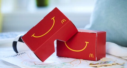 McDonald's enters virtual-reality race with a Happy Meal box