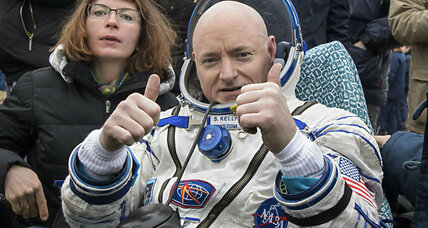 After a record 340 days in space, Scott Kelly returns to Earth