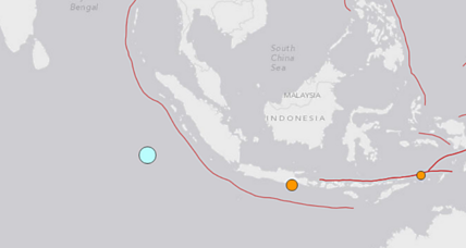 Tsunami warnings issued after major earthquake off Indonesia coast