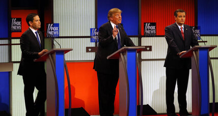 GOP conundrum: candidates decry and vow to support Trump in same debate