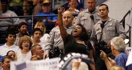 Black protester gets punched in the face at Trump rally. Will it hurt Trump?