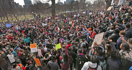 In activist era, high-schoolers from Boston to Detroit take to streets