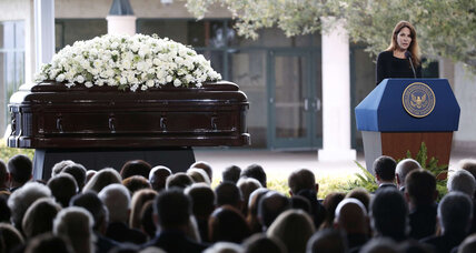 Family, first ladies, and friends say goodbye to Nancy Reagan