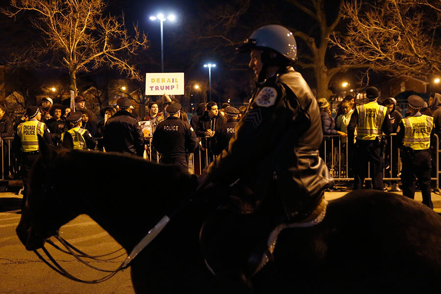 What divides America? This weekend, it was a Chicago street.