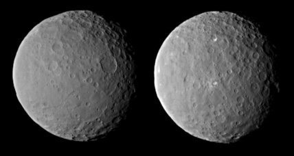 Bright spots on Ceres: Are they moving?