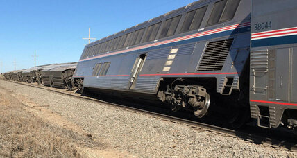 Feed truck hit train track before Amtrak accident, safety official says