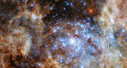 Hubble spots bright, massive stars in Tarantula Nebula