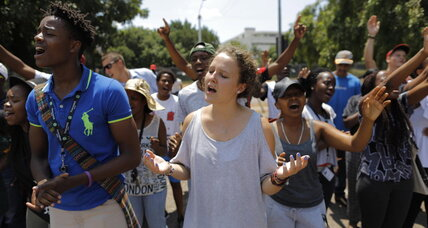 In South Africa, university protesters fight apartheid's echoes