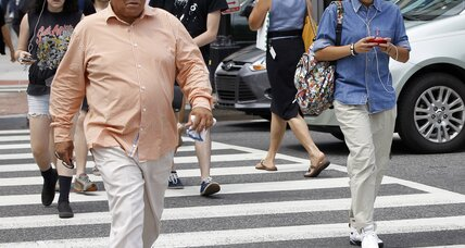 Texting while walking may get you a $50 fine in New Jersey